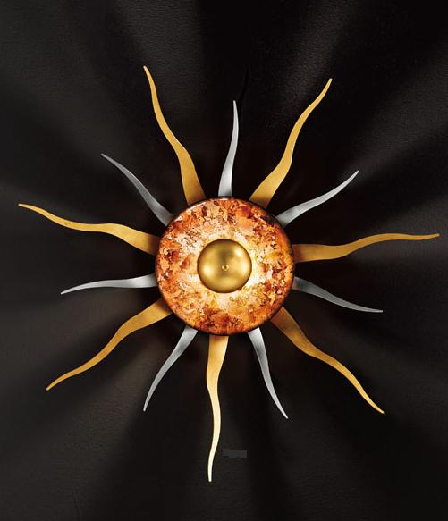 Wandleuchte-Sonne