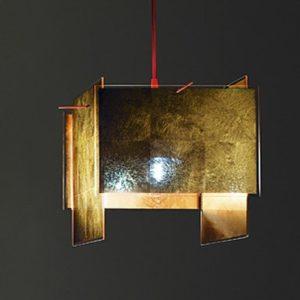 Blattgold Design Hängeleuchte