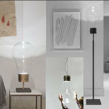 Leuchte in Glühbirnen-Design