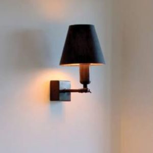 Bronze Wandlampe mit Schalter