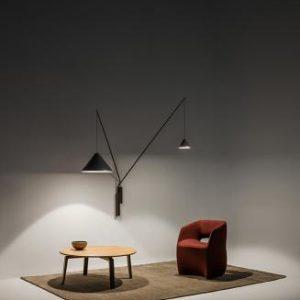 Wandlampe mit Schalter und 2 Lichtquellen