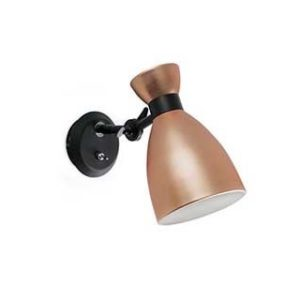 Kupfer Retro Wandlampe mit Schalter